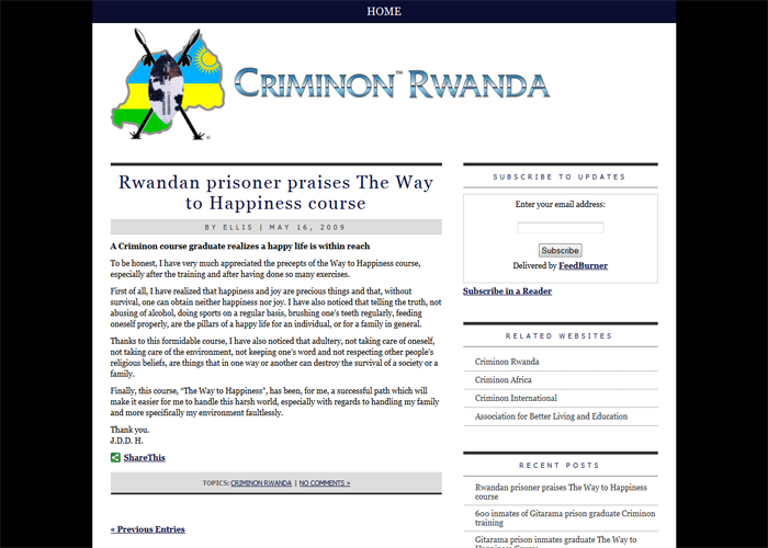 Criminon Rwanda Blog