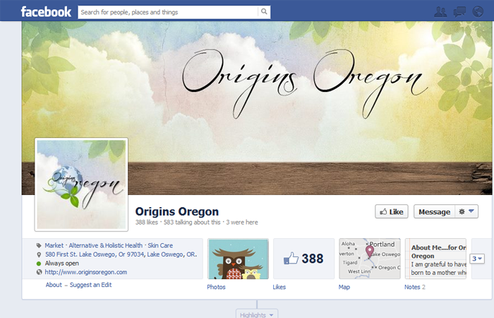 Origins Oregon