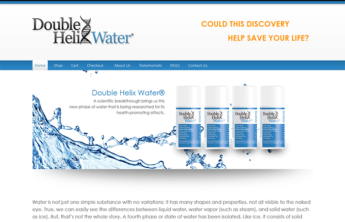 Double Helix Water