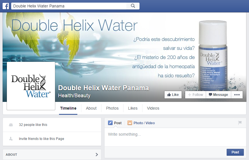 Double Helix Water Panama